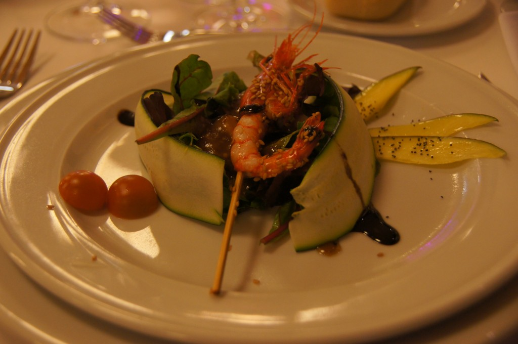 Очень вкусное блюдо с королевской креветкой
