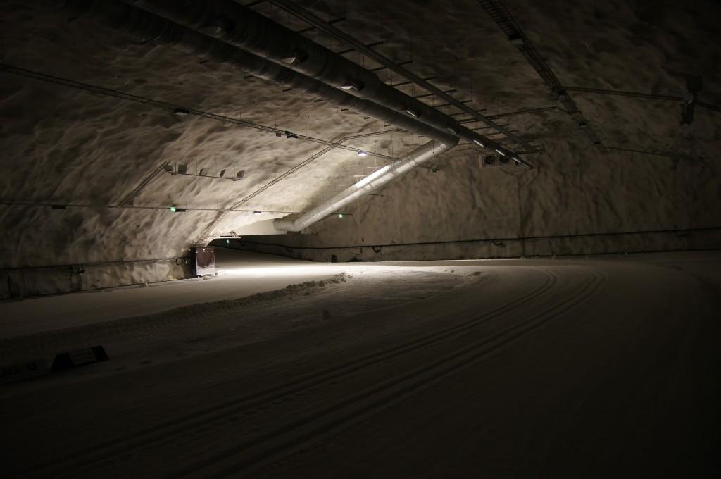 Снежная пещера в Варкаусе