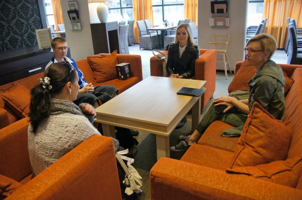 Интервью для газеты в Варкаусе