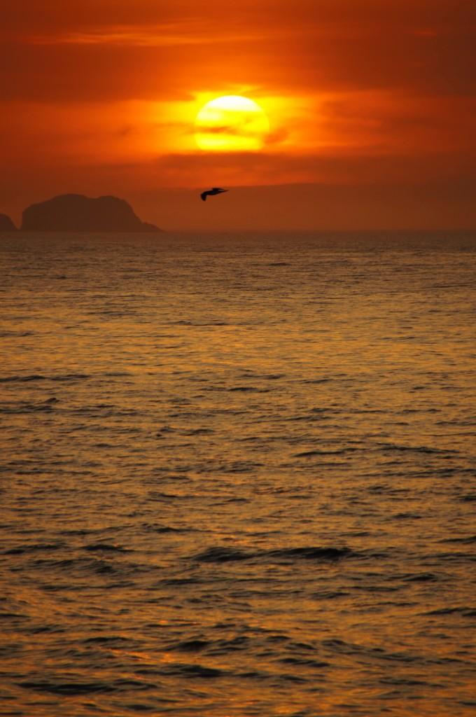 Закат на пляже Ипанема, Рио
