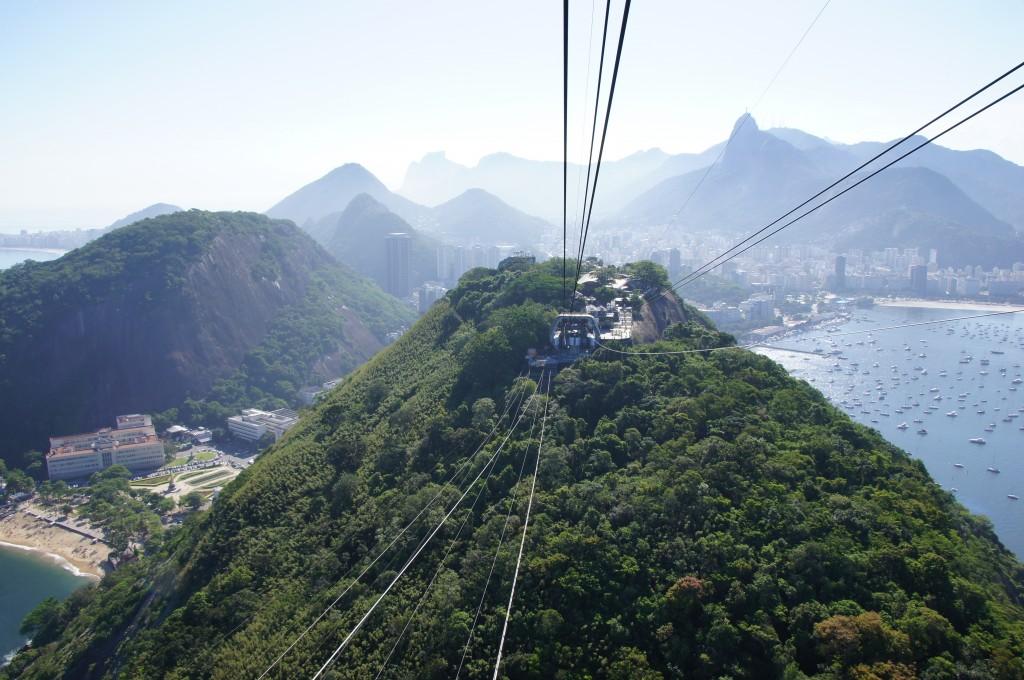 Канатная дорога, вид на гору Урку, Рио
