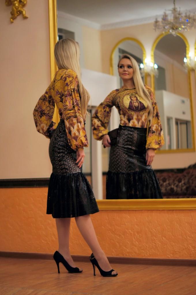 Византийский стиль и перфорированная кожа
