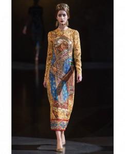 Византийский стиль D&G осень-зима 2013/2014