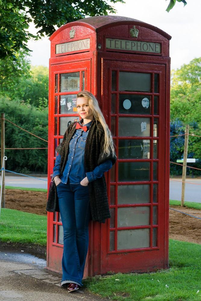 """Фото """"Я и красная телефонная будка"""", Лондон"""