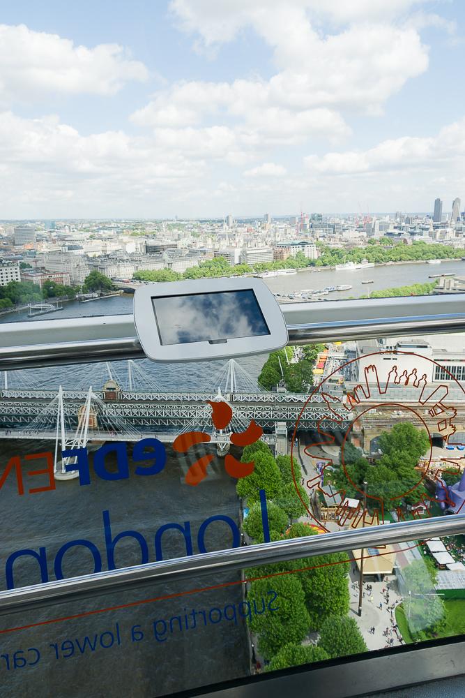 Из кабинки London Eye
