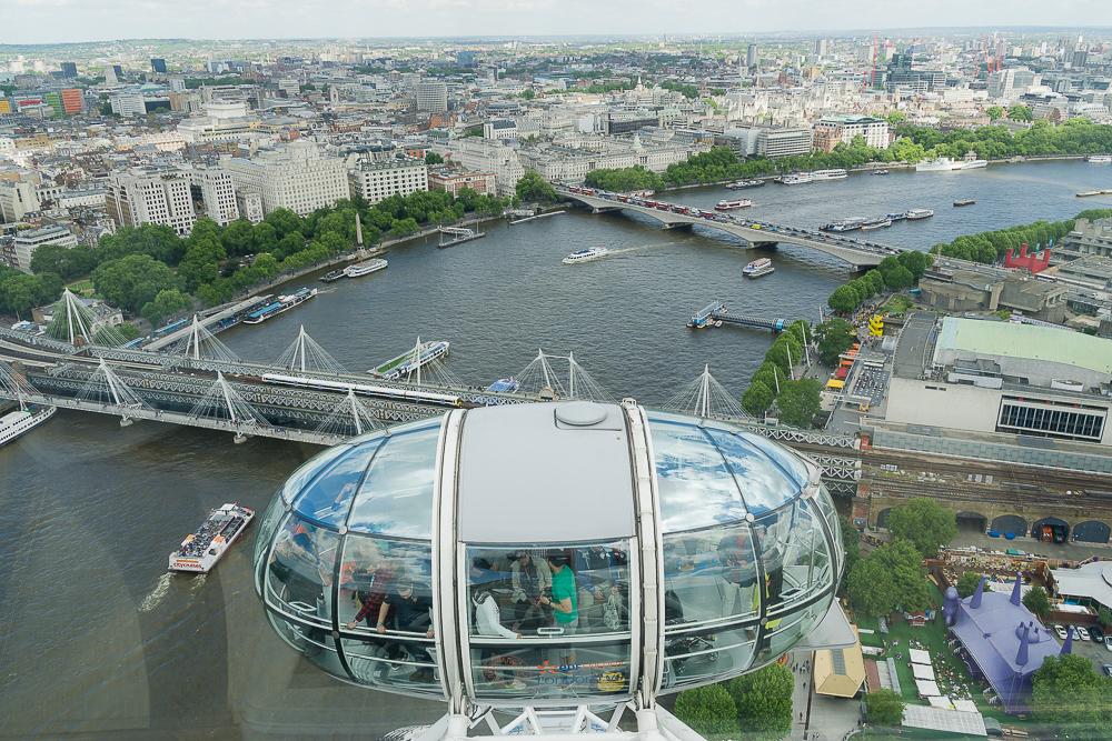 Вид на Лондон с Колеса обозрения