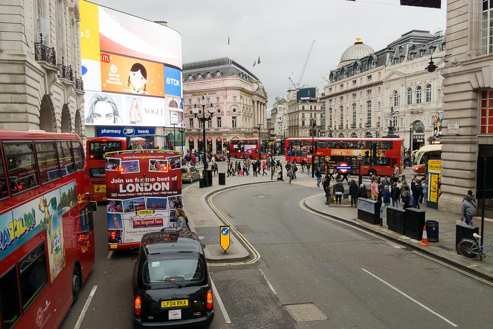 Красные двухэтажные автобусы Лондона