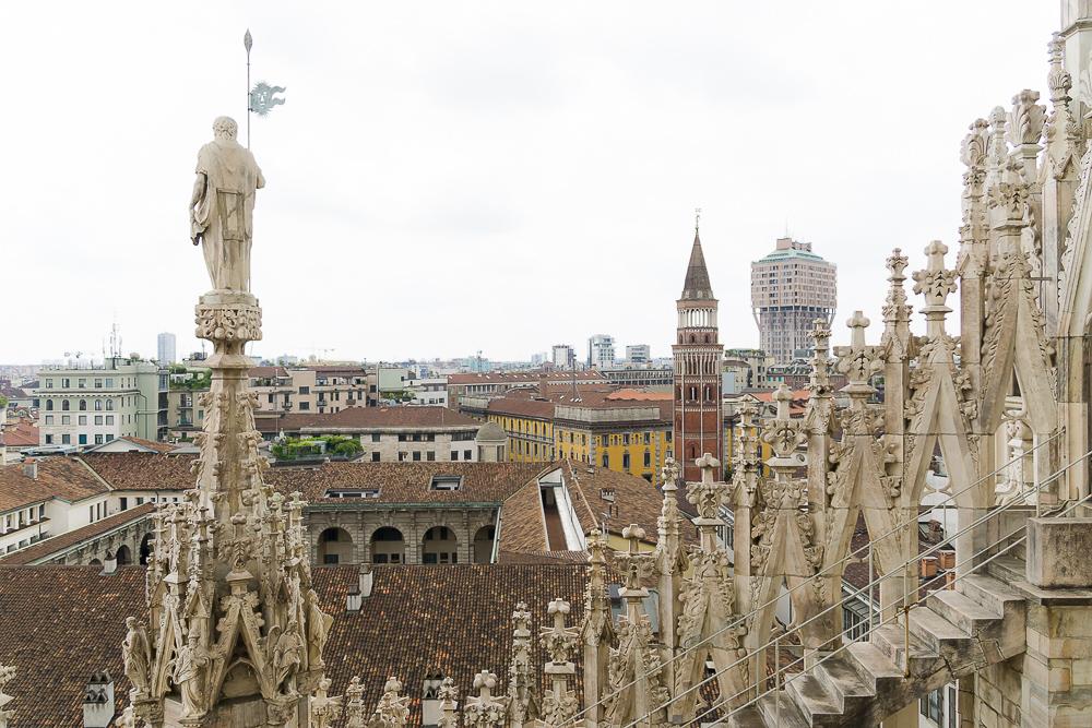 Вид с Собора Дуомо, Милан