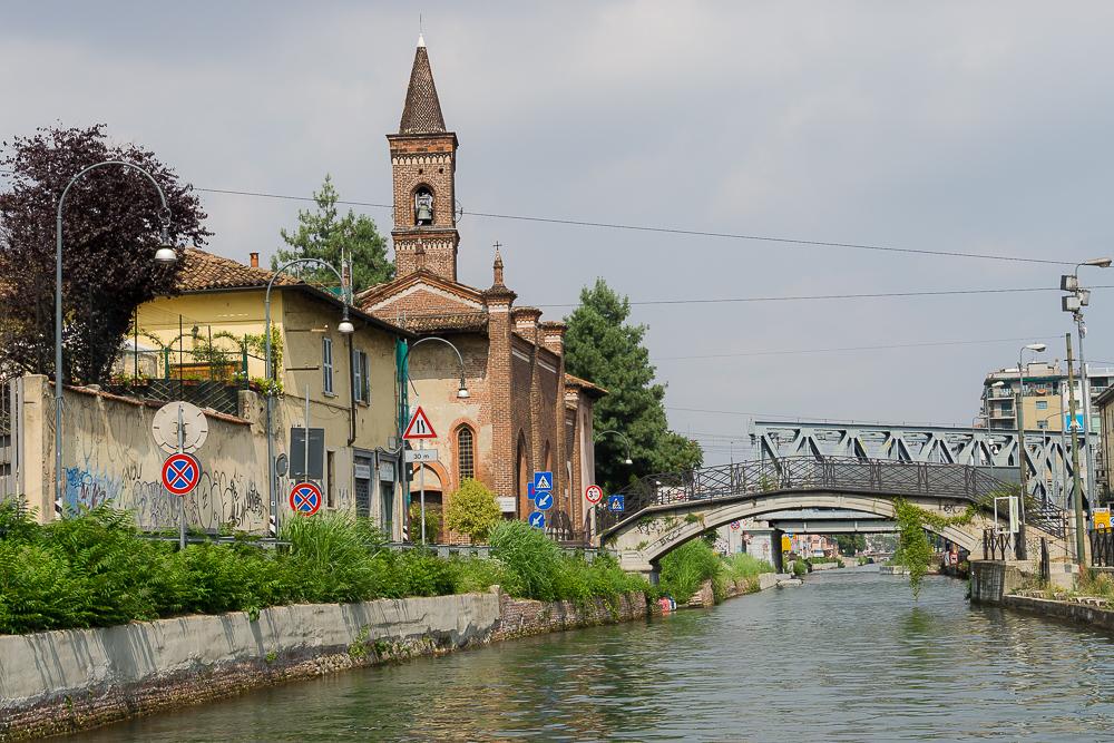Прогулка на катере по Милану