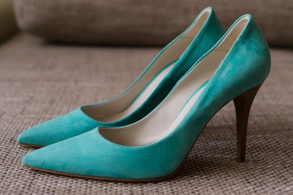Бирюзовые туфли