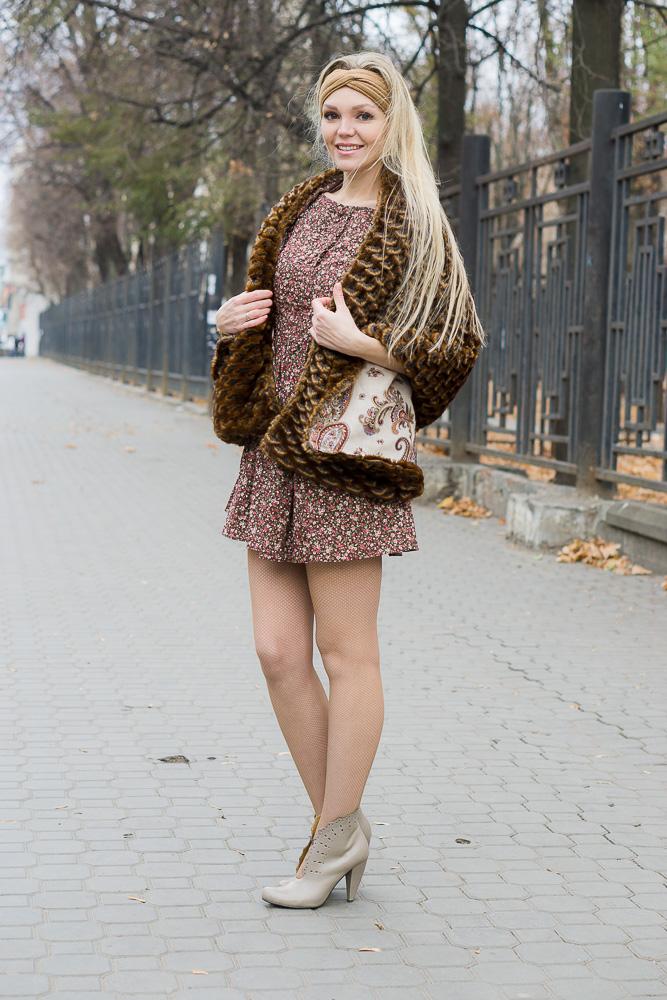 Меховая накидка. Русский стиль