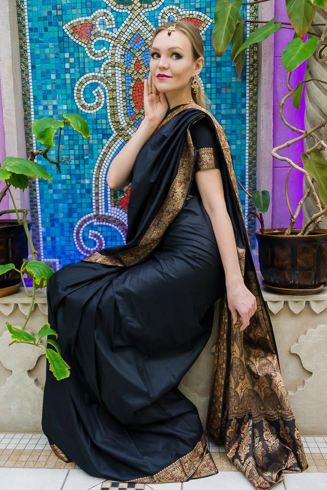 Индийское сари - вечернее платье