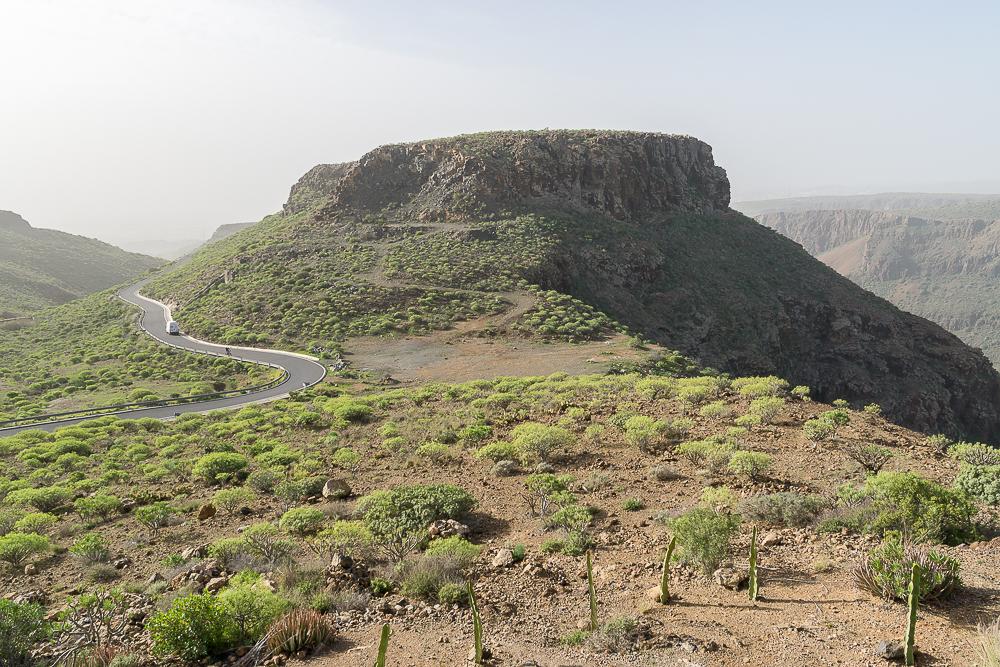 Вид с обзорной площадки Degollada de las Yeguas, Гран-Канария