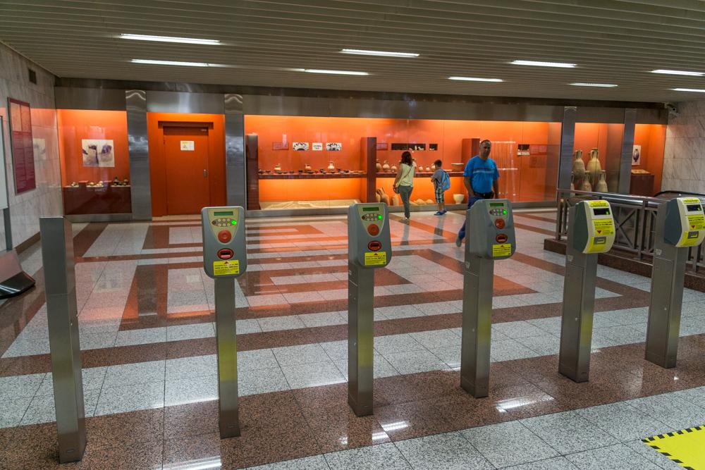 Станция метро, Афины