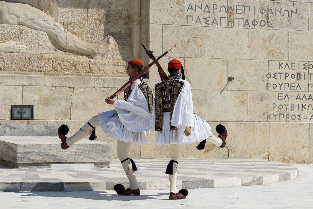 Смена почетного караула в Афинах