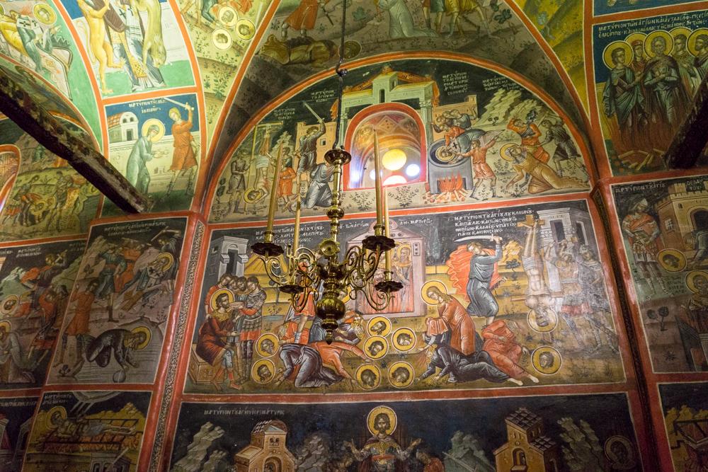 Фрески в монастырях, Метеоры