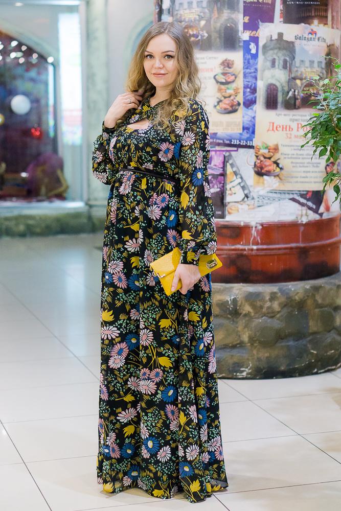 платье макси, беременный стиль