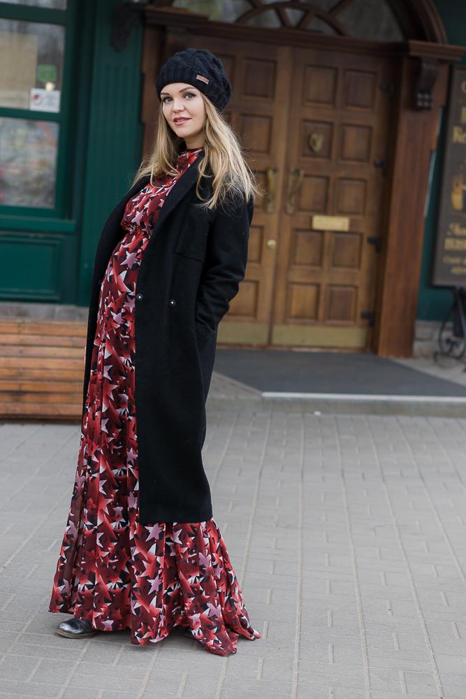 Платье макси для беременных Asos Maternity