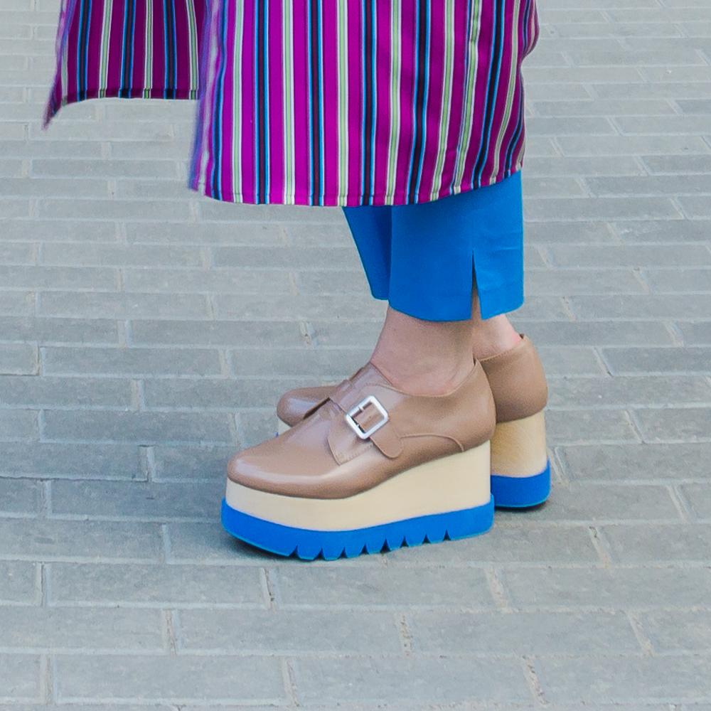 ботинки на двухслойной платформе