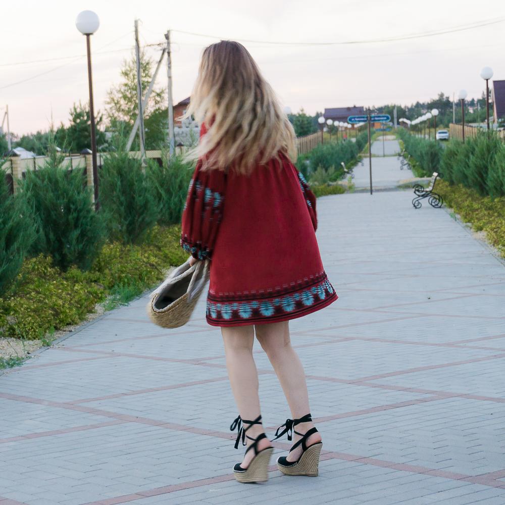 платье в русском стиле